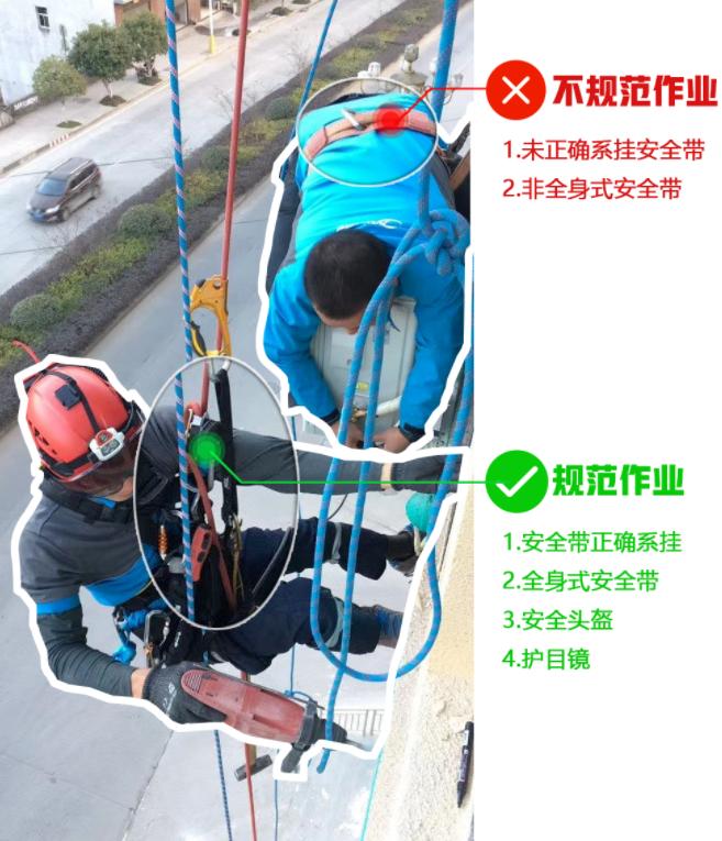 空调工未系安全带,连同外机一起坠落